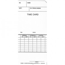 1950-9259 Simplex 300/500 Weekly Timecard