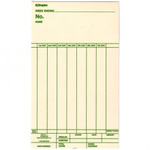 Weekly payroll timecards for the Centennial Time Recorder. 1,000 cards per pack